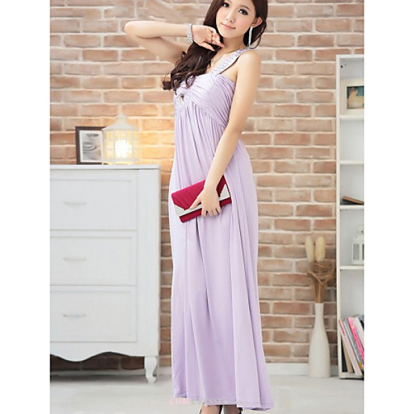 Ankle-length Silk Bridesmaid Dress - Champagne / Black / Lavender Ball Gown Sweetheart Bridesmaid Dresses