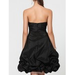 Wedding Party / Homecoming / Cocktail Party / Prom Dress - Black Petite A-line / Princess Sweetheart / Strapless / Spaghetti Straps Celebrity Dresses