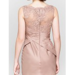 Trumpet/Mermaid Mother of the Bride Dress - Brown Sweep/Brush Train Sleeveless Lace / Taffeta Mother Of The Bride Dresses