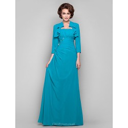 Dress Jade Plus Sizes Petite Sheath Column Strapless Floor Length Chiffon