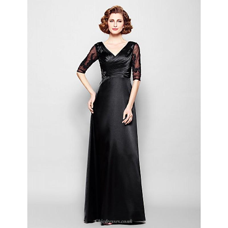d988291ee32 Sheath Column Plus Sizes   Petite Mother of the Bride Dress - Black Floor-