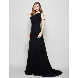 A Line Plus Sizes Petite Mother Of The Bride Dress Black Court Train Short Sleeve Georgette Lace