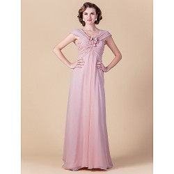 Sheath Column Plus Sizes Petite Mother Of The Bride Dress Blushing Pink Floor Length Sleeveless Chiffon
