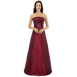 A Line Mother Of The Bride Dress Burgundy Floor Length Satin