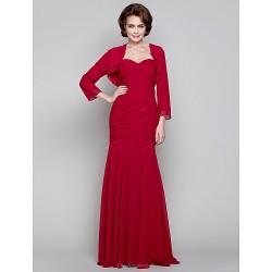 Dress Ruby Plus Sizes Petite Trumpet Mermaid Sweetheart Floor Length Chiffon