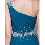 A-line Plus Sizes / Petite Mother of the Bride Dress - Ink Blue Floor-length Sleeveless Chiffon Mother Of The Bride Dresses