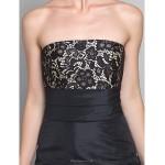 A-line Plus Sizes / Petite Mother of the Bride Dress - Black Floor-length 3/4 Length Sleeve Taffeta / Lace Mother Of The Bride Dresses