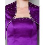 Sheath/Column Plus Sizes / Petite Mother of the Bride Dress - Grape Floor-length 3/4 Length Sleeve Satin Mother Of The Bride Dresses