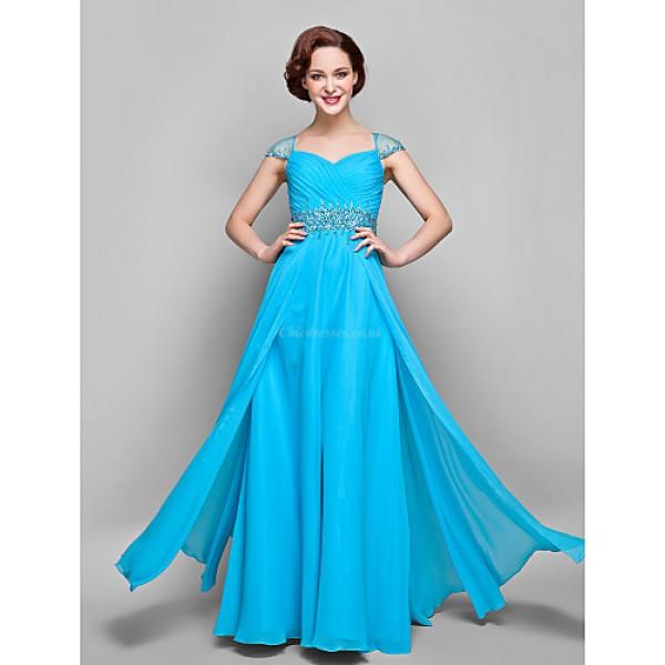 Wedding Party / Formal Evening / Military Ball Dress - Pool Plus Sizes / Petite Sheath/Column V-neck Floor-length Chiffon Mother Of The Bride Dresses