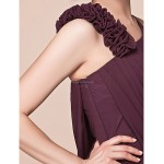 A-line Plus Sizes / Petite Mother of the Bride Dress - Grape Floor-length Sleeveless Chiffon Mother Of The Bride Dresses