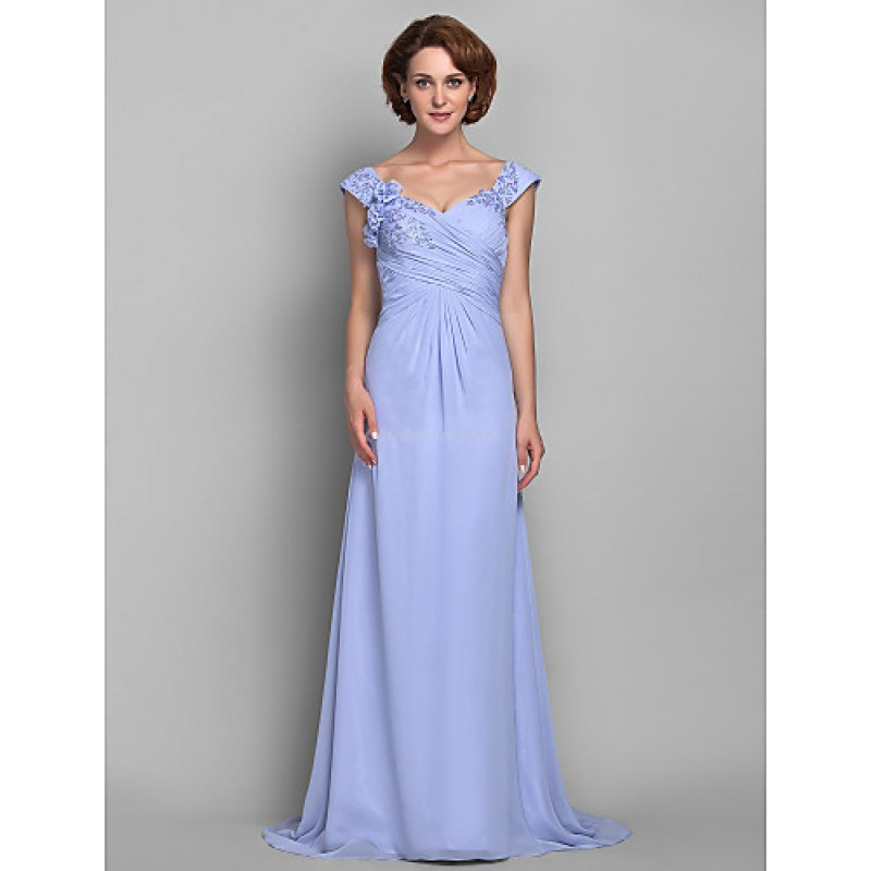 1e12199b8eee4 A-line Plus Sizes   Petite Mother of the Bride Dress - Lavender Sweep