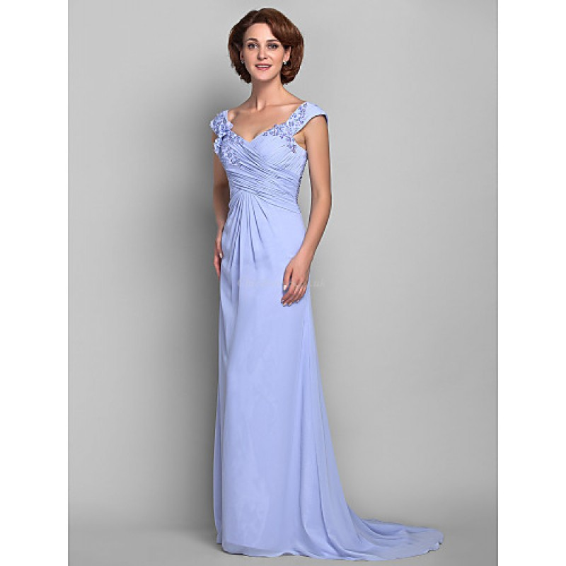 157b43ee0352f ... A-line Plus Sizes   Petite Mother of the Bride Dress - Lavender Sweep   ...