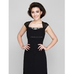 Sheath/Column Mother of the Bride Dress - Black Ankle-length Sleeveless Chiffon Mother Of The Bride Dresses
