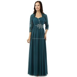 Sheath/Column Mother of the Bride Dress - Ink Blue Floor-length Chiffon