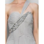 A-line Mother of the Bride Dress - Silver Ankle-length Sleeveless Chiffon Mother Of The Bride Dresses