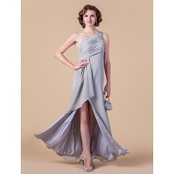 Sheath/Column Plus Sizes / Petite Mother of the Bride Dress - Silver Floor-length Sleeveless Chiffon