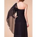 A-line Plus Sizes / Petite Mother of the Bride Dress - Black Floor-length Sleeveless Chiffon Mother Of The Bride Dresses