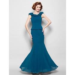 Trumpet Mermaid Plus Sizes Petite Mother Of The Bride Dress Ink Blue Floor Length Sleeveless Georgette