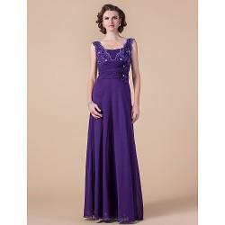 A Line Plus Sizes Petite Mother Of The Bride Dress Regency Floor Length Sleeveless Chiffon Lace