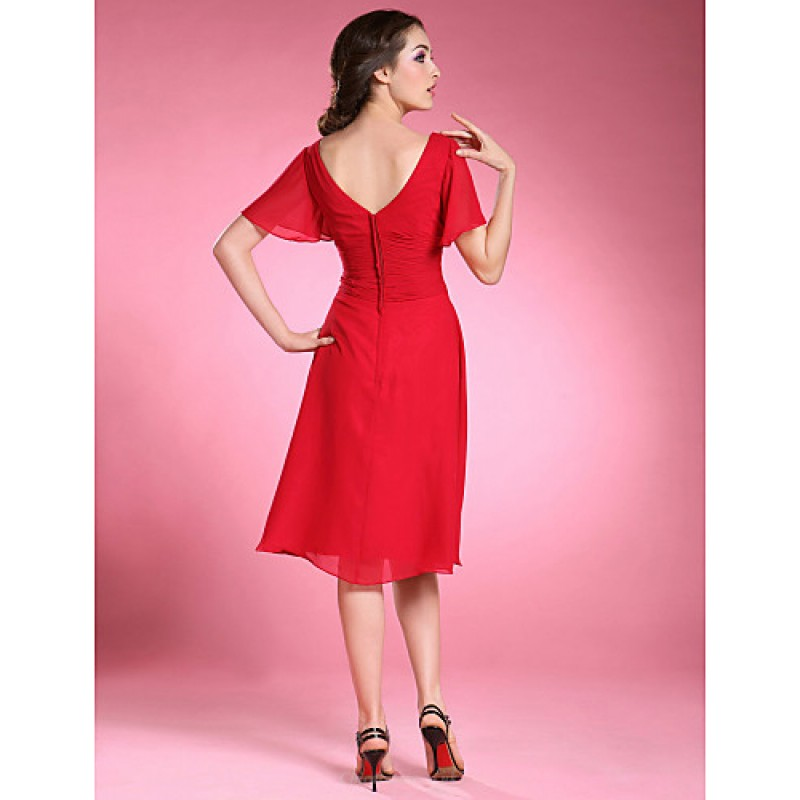 d095e1366b ... A-line Plus Sizes   Petite Mother of the Bride Dress - Ruby Knee- ...