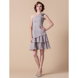 A Line Plus Sizes Petite Mother Of The Bride Dress Silver Knee Length Sleeveless Chiffon