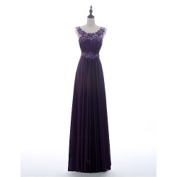 A Line Mother Of The Bride Dress Grape Floor Length Charmeuse