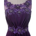 A-line Mother of the Bride Dress - Grape Floor-length Charmeuse Mother Of The Bride Dresses