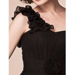 Sheath/Column Plus Sizes / Petite Mother of the Bride Dress - Black Short/Mini Sleeveless Chiffon Mother Of The Bride Dresses