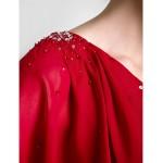 Sheath/Column Plus Sizes / Petite Mother of the Bride Dress - Burgundy Floor-length Half Sleeve Chiffon Mother Of The Bride Dresses