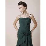 A-line Plus Sizes / Petite Mother of the Bride Dress - Dark Green Tea-length Sleeveless Chiffon Mother Of The Bride Dresses
