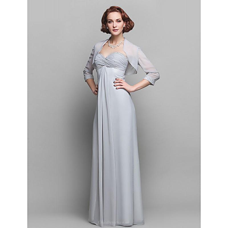 7e67348b46e Sheath Column Plus Sizes   Petite Mother of the Bride Dress - Silver Floor-