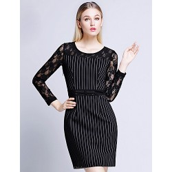 A Line Mother Of The Bride Dress Black Knee Length Rayon