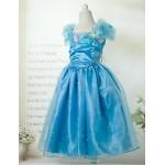 Ball Gown Floor-length Flower Girl Dress - Cotton/Satin/Stretch Satin Short Sleeve Flower Girl Dresses