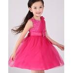 A-line / Ball Gown Tea-length Flower Girl Dress - Cotton / Tulle / Sequined / Polyester Sleeveless Flower Girl Dresses