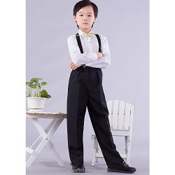 Gold Silver Polester Cotton Blend Ring Bearer Suit 4 Pieces