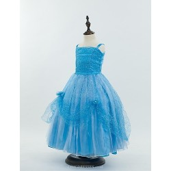 Ball Gown Floor-length Flower Girl Dress - Satin/Stretch Satin Sleeveless