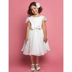 Chiffon Flower Girl Dress With Sash