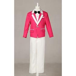 Fuchsia Polester/Cotton Blend Ring Bearer Suit - 4 Pieces