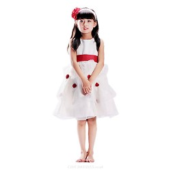 A Line Knee Length Flower Girl Dress Sleeveless