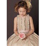 A-line Knee-length Flower Girl Dress Short Sleeve Flower Girl Dresses