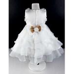 Ball Gown Knee-length Flower Girl Dress - Cotton/Tulle Sleeveless Flower Girl Dresses
