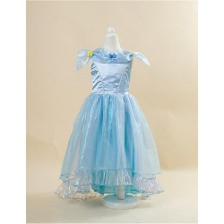 Ball Gown Floor Length Flower Girl Dress Satin Stretch Satin Short Sleeve