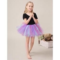 Flower Girl Dress Short Mini Cotton Tulle Ball Gown Sleeveless Dress