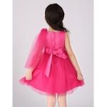A-line Knee-length Flower Girl Dress - Cotton/Organza Sleeveless Flower Girl Dresses