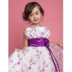 A-line/Ball Gown/Princess Knee-length Flower Girl Dress - Polyester Sleeveless Flower Girl Dresses