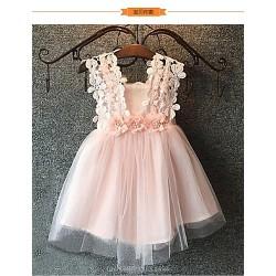 Ball Gown Knee Length Flower Girl Dress Tulle Sleeveless