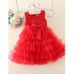 A-line Knee-length Flower Girl Dress - Lace/Satin/Tulle Sleeveless Flower Girl Dresses