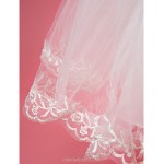 A-line/Ball Gown/Princess Knee-length Flower Girl Dress - Lace/Satin/Tulle Half Sleeve Flower Girl Dresses