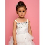 A-line/Ball Gown/Princess Knee-length Flower Girl Dress - Chiffon/Lace/Satin/Tulle Sleeveless Flower Girl Dresses