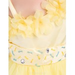 Formal Evening / Wedding Party Dress - Daffodil / Ruby A-line One Shoulder Knee-length Satin / Tulle Flower Girl Dresses